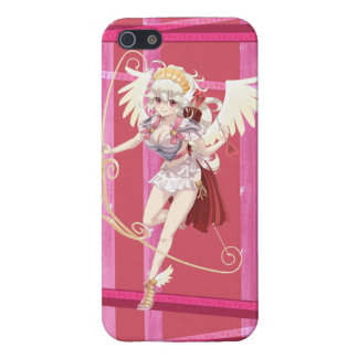 Anime Angelic Cupid - Pink, On Hearts Case For The iPhone 5