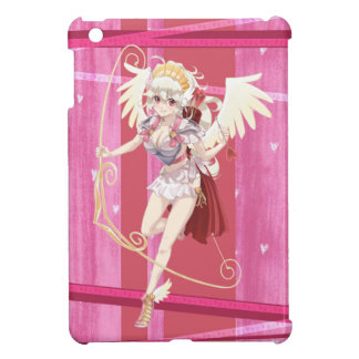 Anime Angelic Cupid - Pink, On Hearts iPad Mini Cover