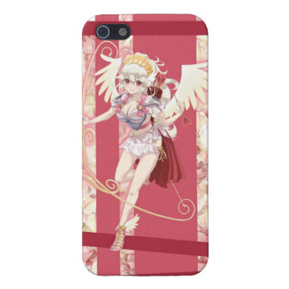 Anime Angelic Cupid - Pink, On Roses Case For The iPhone 5