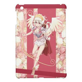 Anime Angelic Cupid - Pink, On Roses iPad Mini Cases