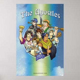 Anime Apostles Christian Poster