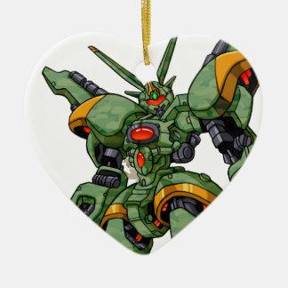 Anime Camo Robot Ceramic Heart Decoration