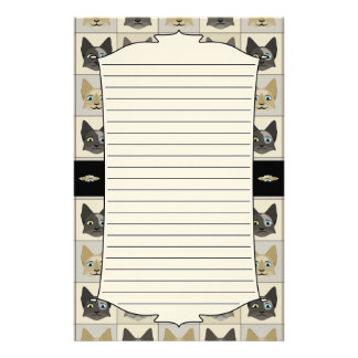 Anime Cat Faces Pattern Customized Stationery