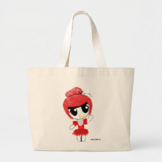 Anime Chibi Angry Bird Large Tote Bag