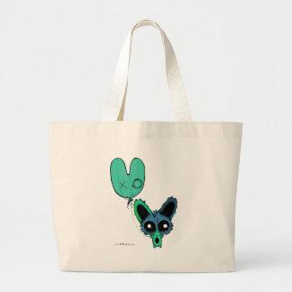 Anime Chibi Bunny and Bunny Balloon Jumbo Tote Bag