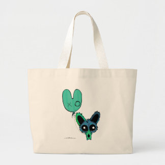 Anime Chibi Bunny and Bunny Balloon Tote Bags