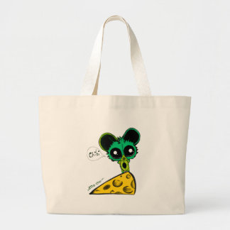 Anime Chibi Mouse and Cheese Canvas Bag
