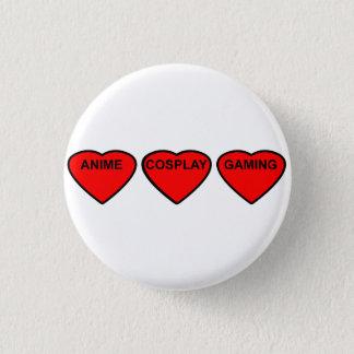 Anime, Cosplay, Gaming Hearts Badge