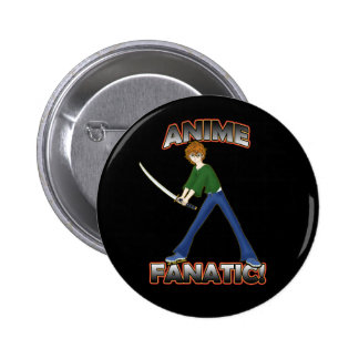 Anime Fanatic Pins Buttons