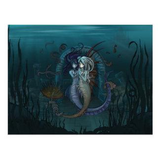 Anime Fantasy Mermaids Postcard