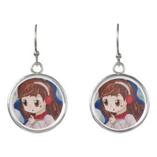 anime girl earrings