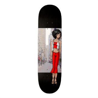 Anime Girl Going Places 21.3 Cm Mini Skateboard Deck