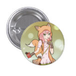 Anime Girl in Fox Cosplay Button