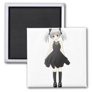 Anime girl fridge magnet