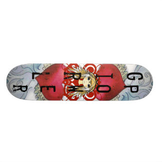 Anime Girl Power 21.6 Cm Old School Skateboard Deck