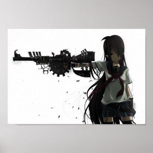 Anime Girl Power Poster