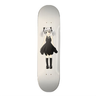 Anime girl skate board deck