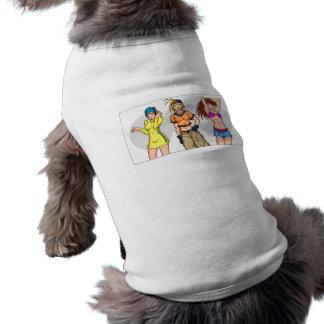 Anime Girl Triplets Sleeveless Dog Shirt