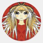 Anime Girls - Classic Round Sticker