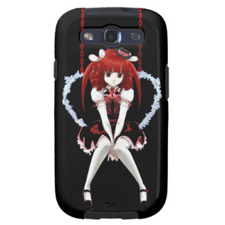 Anime Gothic Lolita - On Black Galaxy S3 Cases