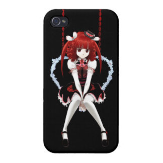 Anime Gothic Lolita - On Black Cover For iPhone 4