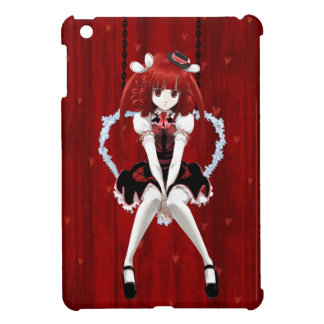 Anime Gothic Lolita - On Red iPad Mini Covers