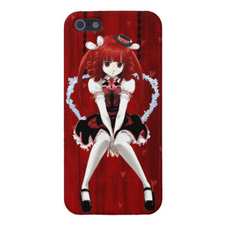 Anime Gothic Lolita - On Red Cases For iPhone 5