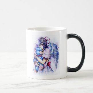 Anime Gothic Pink Angel Girl With Teddy Mugs