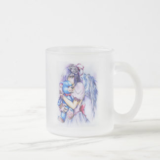 Anime Gothic Pink Angel Girl With Teddy Mug