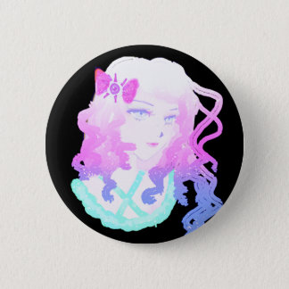Anime  Hipster Kawaii Pastel Creepy Cute Girl 6 Cm Round Badge