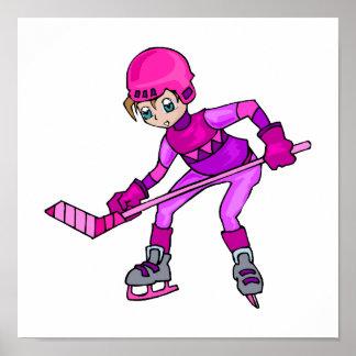 Anime Hockey Girl Poster