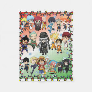 Anime Holiday Fleece Blanket, Small