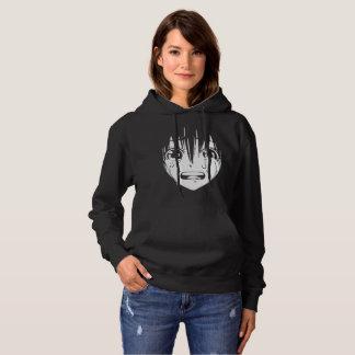 Anime Hooded Sweatshirt: Crying Girl (Black) Hoodie