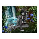 Anime Kitten Waterfalls 2 Postcard