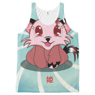 Anime Kitty - Hime, All-Over Print Tank Top