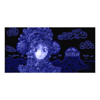 Anime Manga Dark Gothic Princess Custom Photo Card