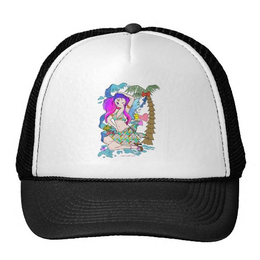 Anime manga Girl Japanese Art Mesh Hat
