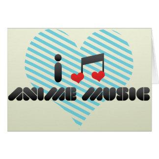 Anime Music Greeting Card