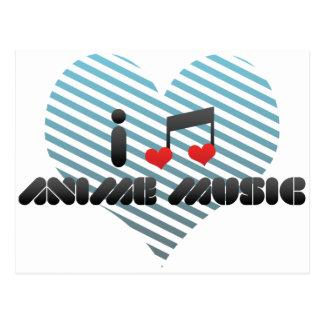 Anime Music Postcard