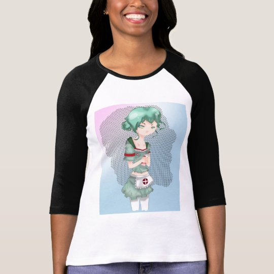 Anime Nurse 3/4 Sleeve Raglan T-Shirt
