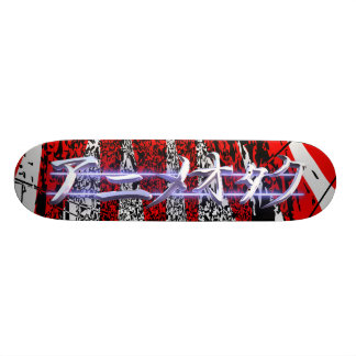 Anime Otaku red burst Skate Boards