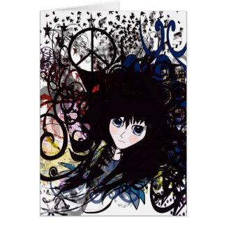 Anime Peace Grunge Card