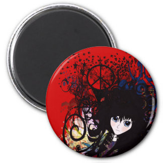 Anime Peace Grunge Magnet