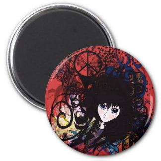 Anime Peace Grunge Refrigerator Magnet