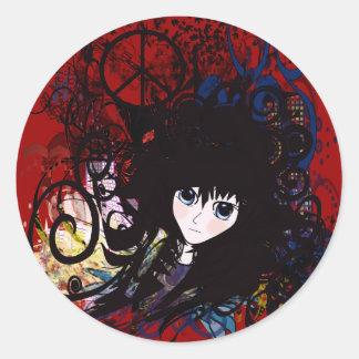 Anime Peace Grunge Stickers