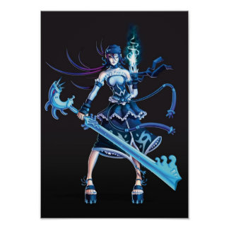 Anime Pirate Girl Poster