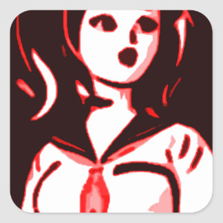 Anime Pop Square Sticker