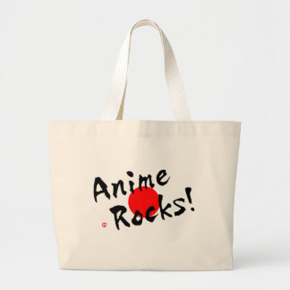Anime Rocks! Large Tote Bag