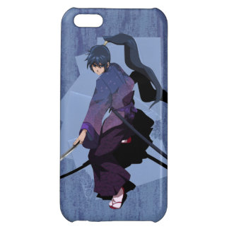 Anime Samurai - Slate Blue Cover For iPhone 5C