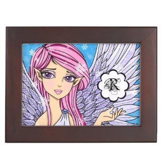 Anime Snow Angel Personalizabel art print Keepsake Box